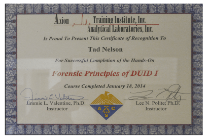 Forensic Principles of DUID