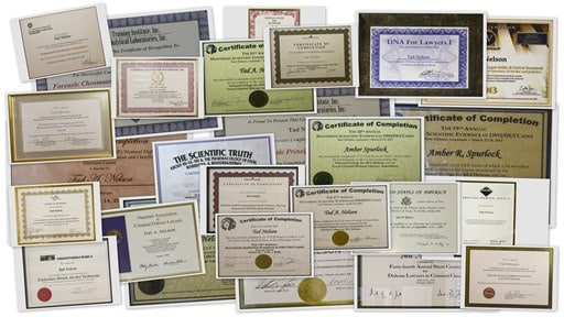 DWI Defense Training Certificates