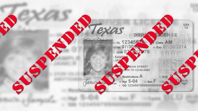 Suspended Texas Drivers License